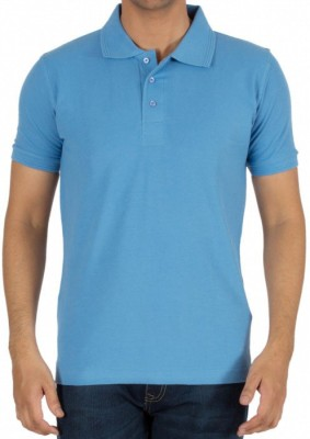 Basile Solid Men's Polo Dark Blue T-Shirt
