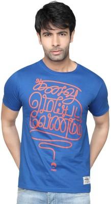Tamizhanda Printed Men's Round Neck Blue T-Shirt