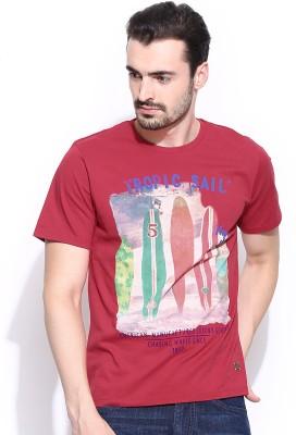 IZOD Printed Men's Round Neck Red T-Shirt