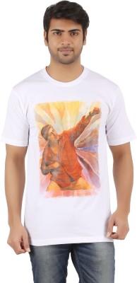 Supertex Printed Men's Round Neck White T-Shirt