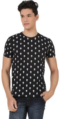 Marvel Comics Printed Men's Round Neck Black T-Shirt