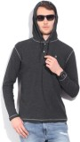 Integriti Solid Men's Hooded Grey T-Shir...