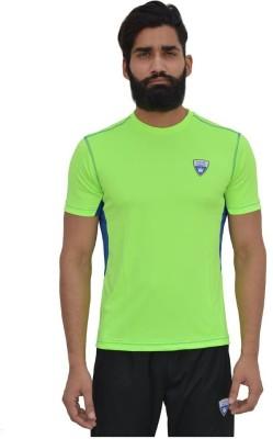 Color Castle Solid Men's Round Neck Green T-Shirt