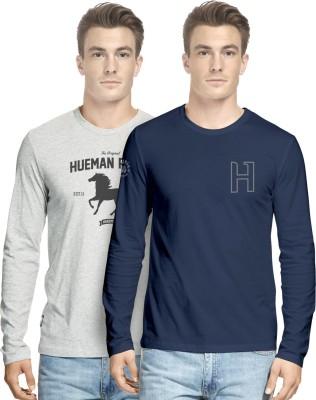 Hueman Printed Men's Round Neck Multicolor T-Shirt