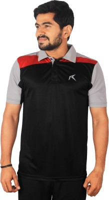 Repugn Solid Men,s Polo Black T-Shirt