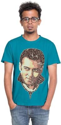 BINDAS BANDA Graphic Print Men's Round Neck Blue T-Shirt