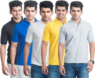Eprilla Solid Men,s Polo Neck Multicolor T-Shirt