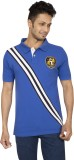 Red Line Solid Men's Polo Neck Blue T-Sh...