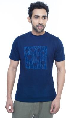 Fabnavitas Printed Men's Round Neck Blue T-Shirt