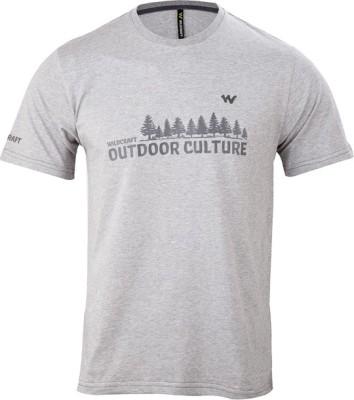 Wildcraft Graphic Print Men's Round Neck Green T-Shirt