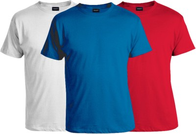 RDADY Solid Men,s, Boy's Round Neck Red, Blue, White T-Shirt