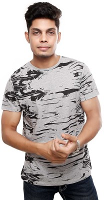 Viral Lifestyle Printed Men's Round Neck Grey T-Shirt