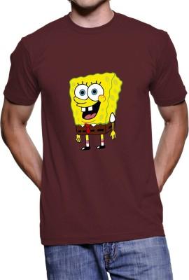 Fanideaz Printed Men's Round Neck Maroon T-Shirt