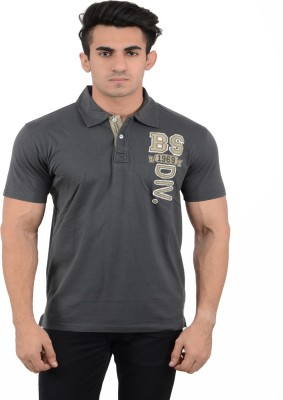 Black Sparrow Solid Men's Polo Neck Dark Green T-Shirt