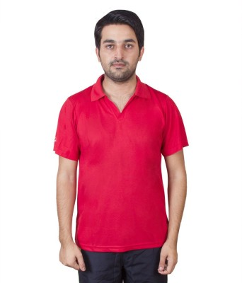 FastFox Solid Men's Polo Red T-Shirt