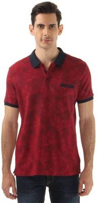 Monte Carlo Printed Men's Polo Neck Maroon T-Shirt