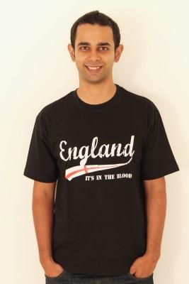 642 Stitches Printed Men's Round Neck Black T-Shirt