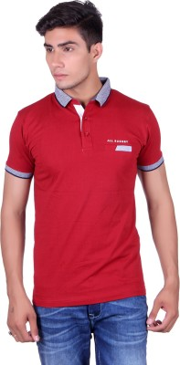 All Ruggby Printed Men's Polo Neck Red T-Shirt