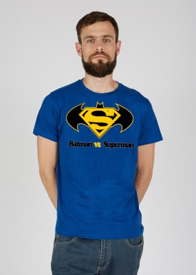 Pp jeans Printed Men's Round Neck Blue T-Shirt