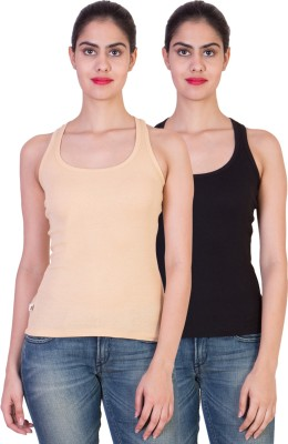 Tooba Solid Women's Round Neck Multicolor T-Shirt
