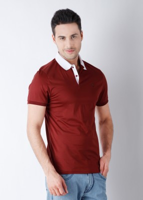 Arrow Solid Men's Polo Maroon T-Shirt