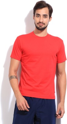 Jockey Solid Men's Round Neck Red T-Shirt