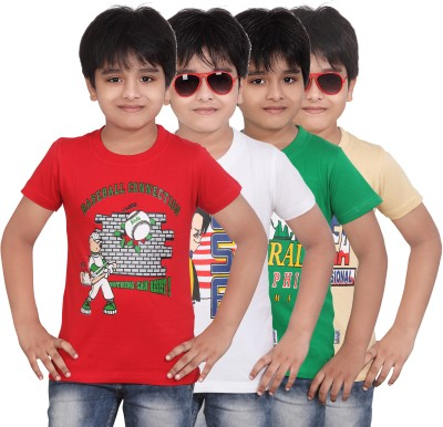 Dongli T- shirt For Boys(Multicolor)