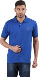 Neoteric Solid Men's Polo Blue T-Shirt