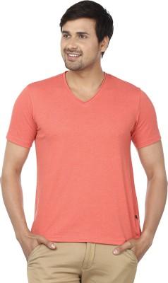 Ruse Solid Men's V-neck Pink T-Shirt