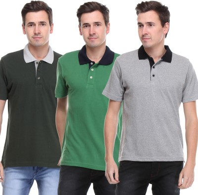 OPG Solid Men's Polo Neck Multicolor T-Shirt