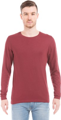 Prym Solid Men's Round Neck Red T-Shirt