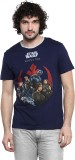 Star Wars Printed Men's Round Neck Blue ...