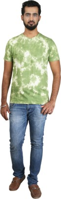 Pick Indiana Military Camouflage Men's Round Neck Green T-Shirt