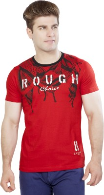 Maniac Graphic Print Men's Round Neck Red T-Shirt