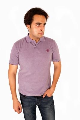 Maggivox Solid Men's Polo Purple T-Shirt