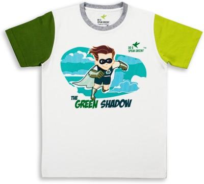 Do U Speak Green Graphic Print Boy's Round Neck T-Shirt