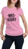 Girlful Printed Women's Round Neck Pink ...