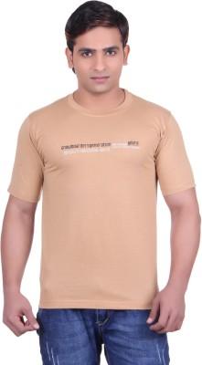 Martin Smith Printed Men's Round Neck Brown T-Shirt