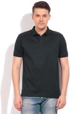 Arrow Newyork Solid Men's Polo Grey, Black T-Shirt