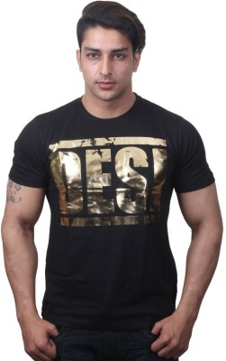 URBAN THEKA Solid Men's Round Neck T-Shirt