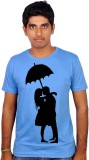 Amla Printed Men's Round Neck Blue T-Shi...