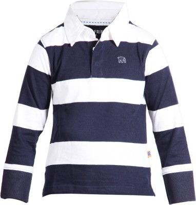 Trmpi Striped Boy's Polo Neck T-Shirt