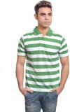 Set Striped Men's Polo Neck T-Shirt