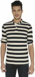 Nick & Jess Striped Men's Polo Neck Mult...