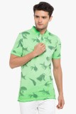 Copperstone Printed Men's Henley Green T...