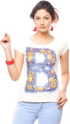 Trendy Girlz Graphic Print Women's Round Neck White T-Shirt