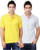 Top Notch Solid Men's Polo Neck Yellow, ...