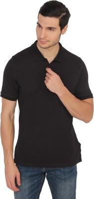 Calvin Klein Solid Men's Polo Neck Black T-Shirt