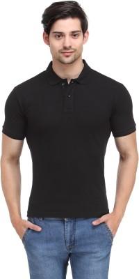 Happy Hippie Solid Men's Polo Black T-Shirt