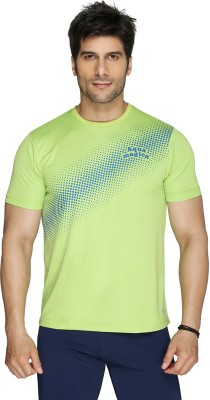 Aquamagica Printed Men's Round Neck Green T-Shirt